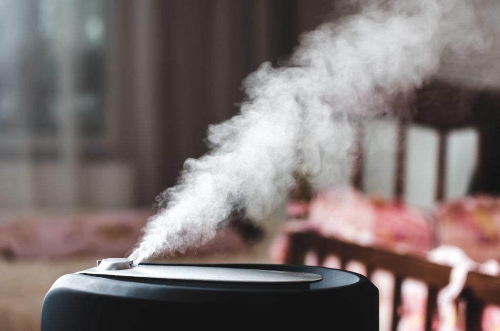 humidificateur d'air dans une chambre