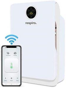Purificateur dair HEPA avec Wi Fi et lampe de desinfection UV respiration VOLGA filtre HEPA medical PRO Purificateur d'air avec filtre HEPA