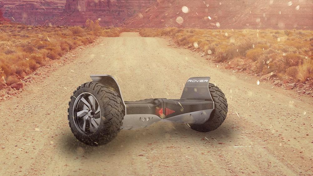 hoverboard tout terrain dans le sable