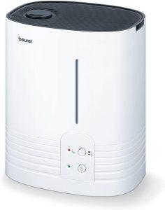 Beurer LB 55 Humidificateur dair avec technologie devaporation a eau chaude hygienique pour des pieces jusqua 50 m%C2%B2 humidificateur à air chaud