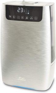Solis Ultrasonic Pure 7217 Humidificateur et purificateur dair Fonction Arome Filtre a Charbon Argent humidificateur à uv