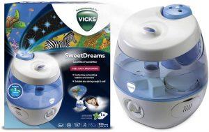 Vicks VUL575 Humidificateur Sweetdreams avec projecteur dimage humidificateur d'air bébé